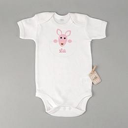 Rompertjes - Geboortekaartjes meisje - Meisje kangaroe - zokaar - 1