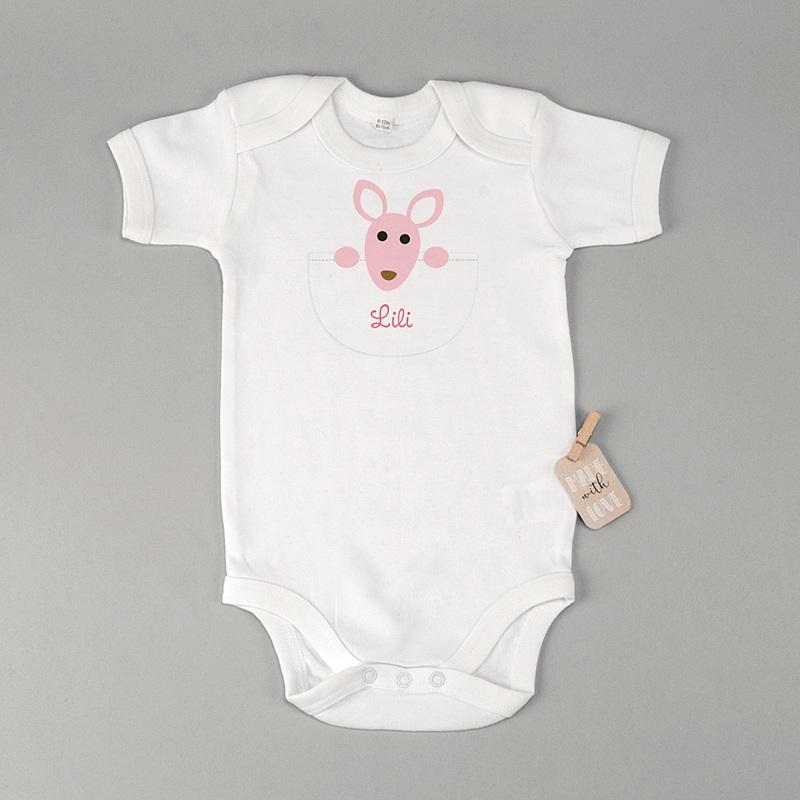 Gepersonaliseerde Baby Bodysuits  Meisje kangaroe