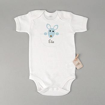 Rompertjes - Geboortekaartje jongen - Kangaroe jongen - zokaart - 1