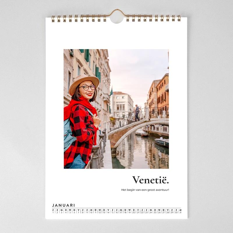 Personaliseerbare kalenders 2019 Jaar van de reizen