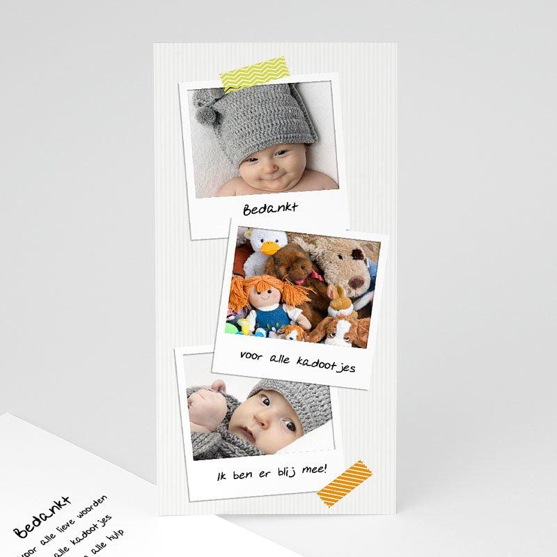 Bedankkaartje geboorte dochter Eerste polaroids