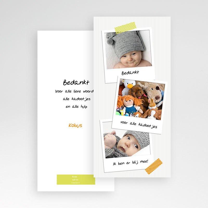 Bedankkaartje geboorte dochter Eerste polaroids pas cher