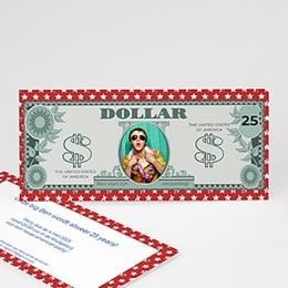 Uitnodiging Anniversaire adulte Amerikaanse dollar