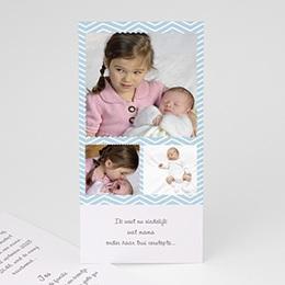 Aankondiging Geboorte Polaroid familie
