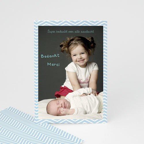 Bedankkaartje geboorte dochter - Polaroid familie 23670 thumb