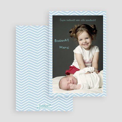 Bedankkaartje geboorte dochter - Polaroid familie 23672 thumb