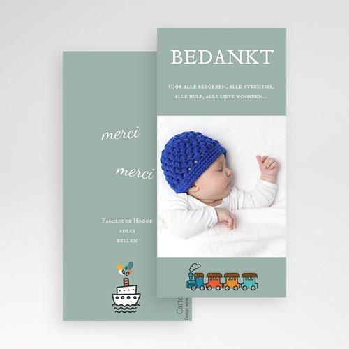 Bedankkaartje geboorte zoon - Jongens schatkamer 23689 thumb