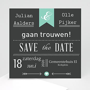 Save the date kaartjes - Save je date - 1