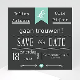 Save the date kaartjes Save je date