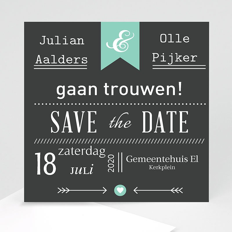 Save the date kaartjes - Save je date 23778 thumb