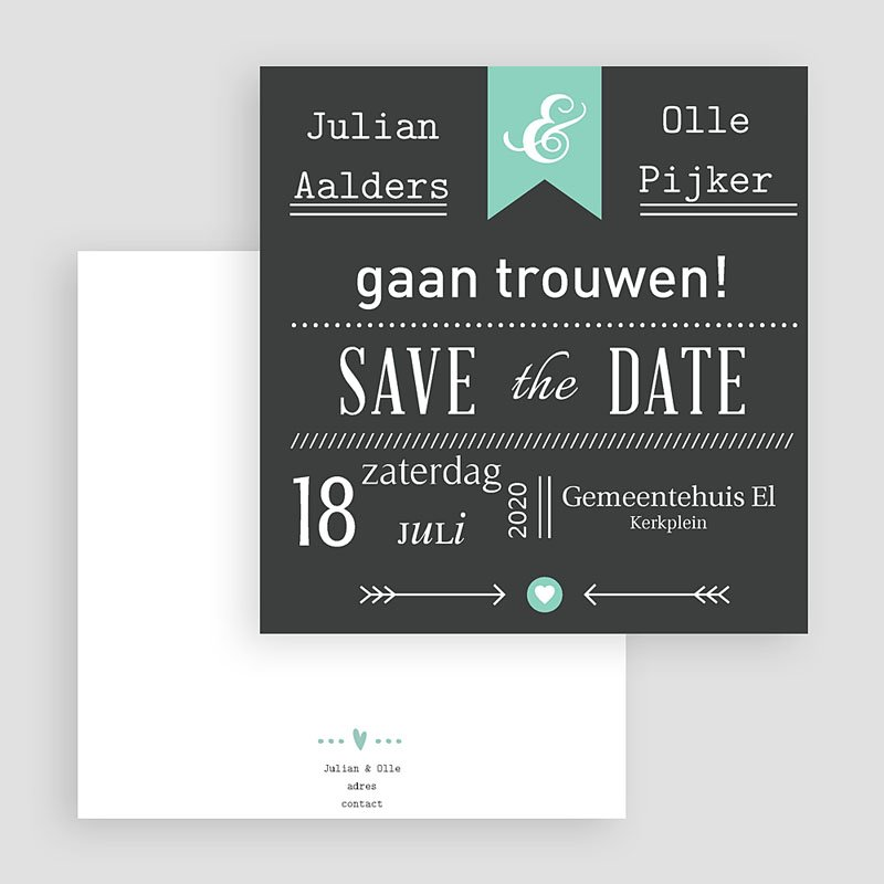 Save the date kaartjes - Save je date 23780 thumb