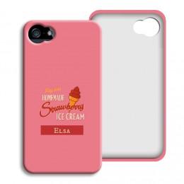 Smartphone case bedrukken - Aardbeien ijsje - 1