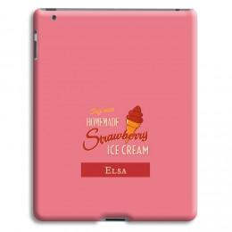 Case iPad 2 - Aardbeien ijsje - 1