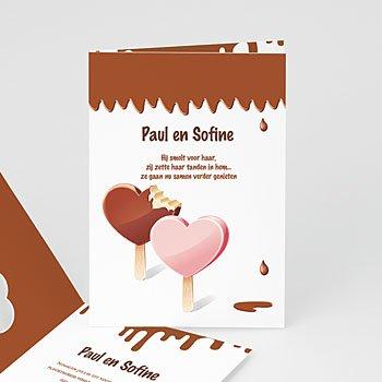 Trouwkaarten - Gesmolten chocolade - 1