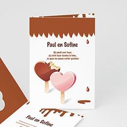 Personaliseerbare trouwkaarten - Gesmolten chocolade - 1