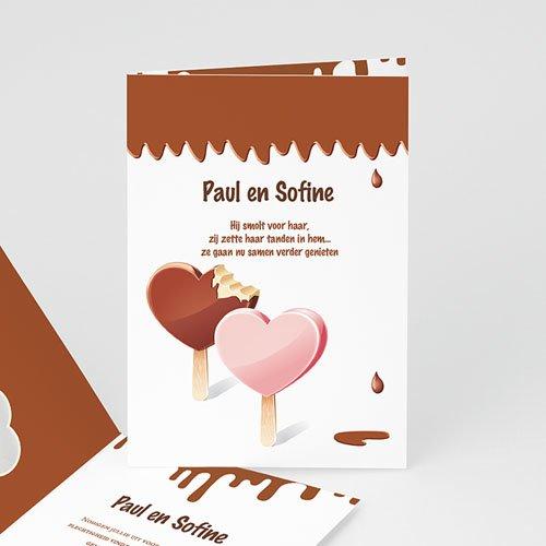 Personaliseerbare trouwkaarten - Gesmolten chocolade 24064