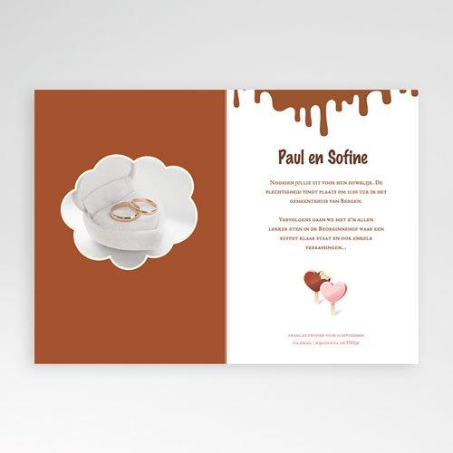 Personaliseerbare trouwkaarten - Gesmolten chocolade 24065 thumb