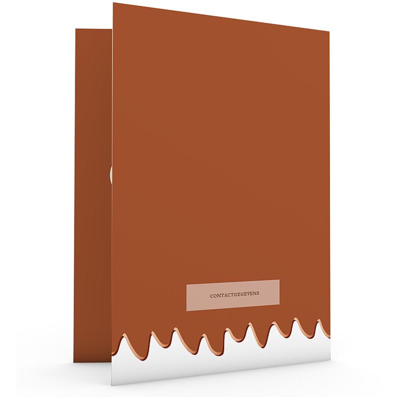 Creatieve trouwkaarten - Gesmolten chocolade 24066 thumb