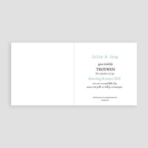 Vintage trouwkaarten - Save je date 24074 thumb