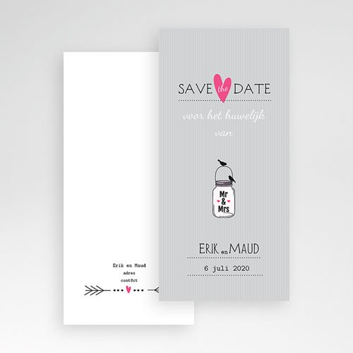 Save the date kaartjes - poëtisch in love 24208 thumb