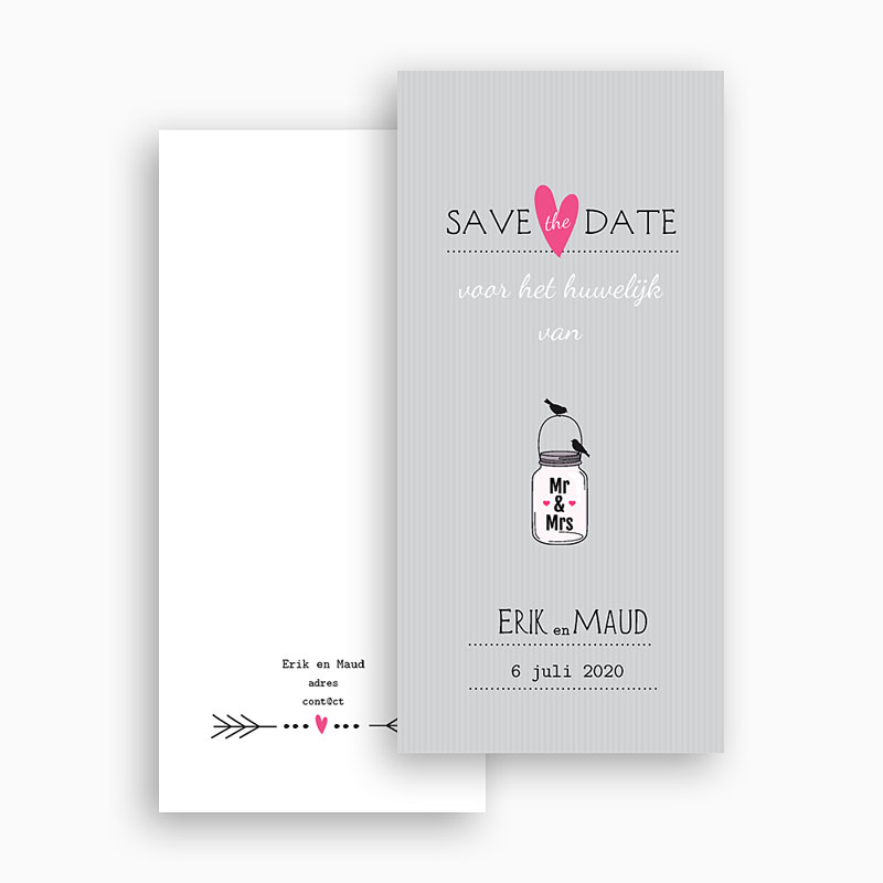 Save the date kaartjes - poëtisch in love 24209 thumb
