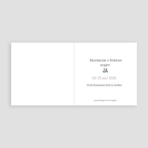 Personaliseerbare trouwkaarten - Dat is duidelijk 24253 thumb