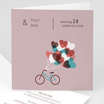Trouwkaarten - Op de fiets naar liefde - 1