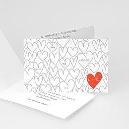 Personaliseerbare trouwkaarten - Hartjesdief - 1