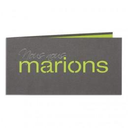 Exclusieve trouwkaarten - Marions - Vert - 1