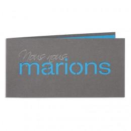 Exclusieve trouwkaarten - Couleur Bleu - 1