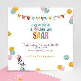 Uitnodiging Verjaardag kind confettifeest