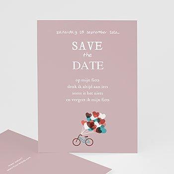 Save the date kaartjes - Op de fiets naar liefde - 1