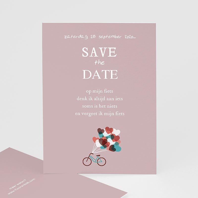 Save the date kaartjes - Op de fiets naar liefde 24535 thumb