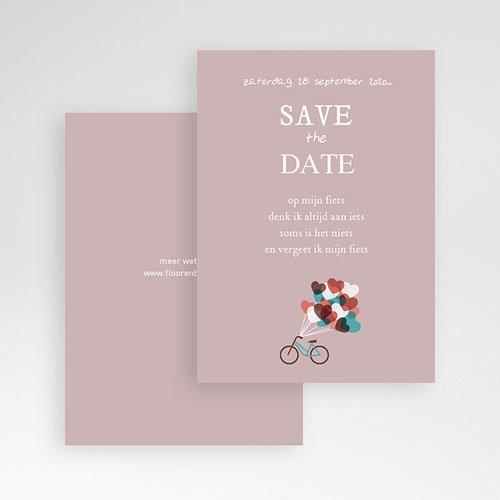 Save the date kaartjes - Op de fiets naar liefde 24536 thumb