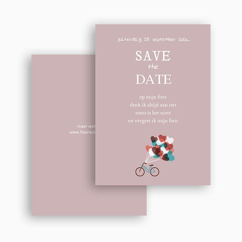 Save the date kaartjes - Op de fiets naar liefde 24537 thumb