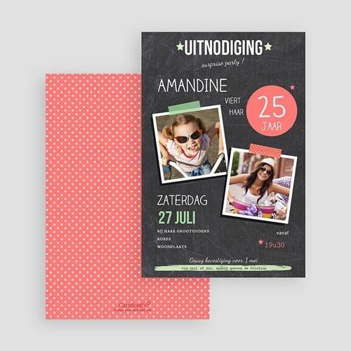 Verjaardagskaarten volwassenen - Leisteen uitnodiging 24546 thumb