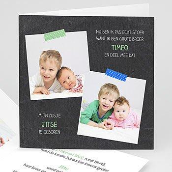 Geboortekaartjes voor broer of zus - Nieuwe aanwinst - 1