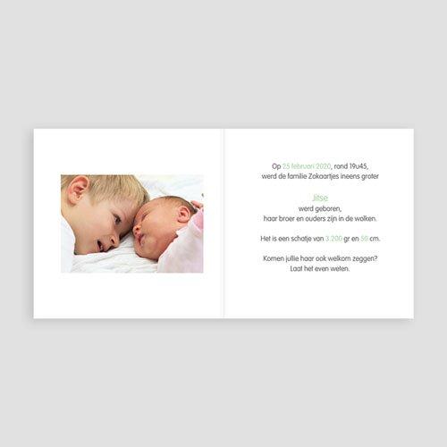 Geboortekaartjes broertje of zusje - Nieuwe aanwinst 24572 thumb