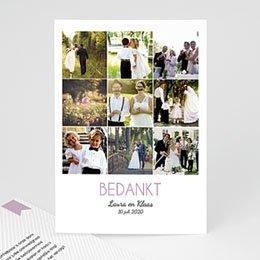 Bedankkaartjes huwelijk Bioscoopkaartje
