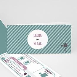 Personaliseerbare trouwkaarten - Bioscoopkaartje - 1