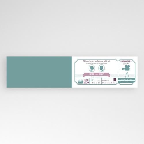 Personaliseerbare trouwkaarten - Bioscoopkaartje 24670 thumb