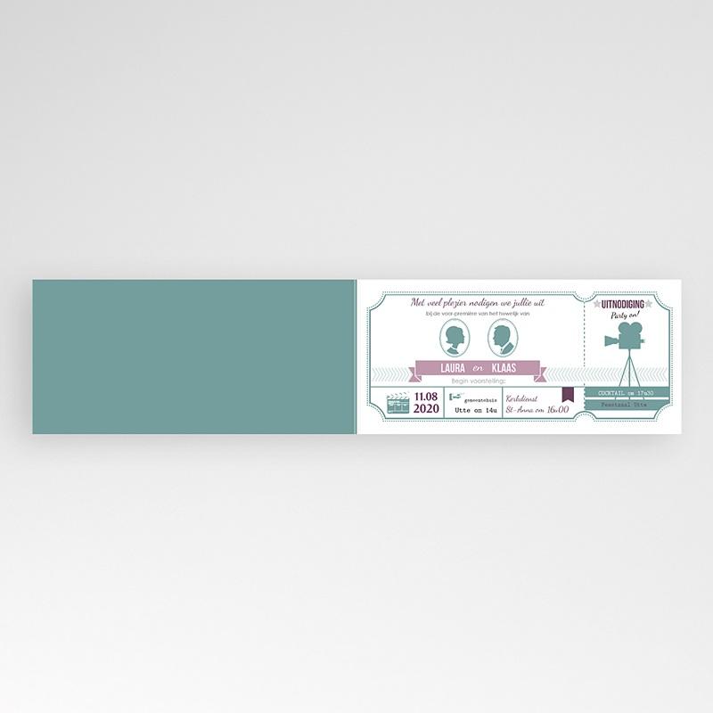 Trouwkaartjes zonder foto - Bioscoopkaartje 24670 thumb