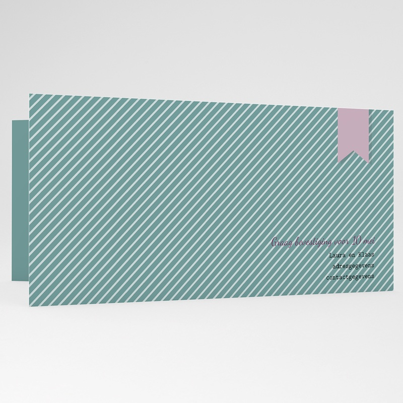 Trouwkaartjes zonder foto - Bioscoopkaartje 24671 thumb