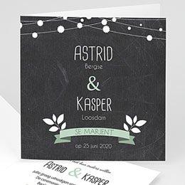 Personaliseerbare trouwkaarten - verslingerd wit - 1