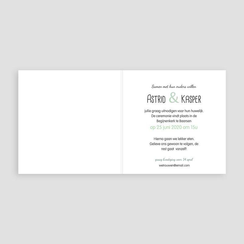 Trouwkaarten - verslingerd wit 24697 thumb