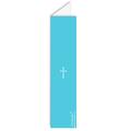 Menukaart doopviering - Blauw rozenkrans en kruis 24731 thumb