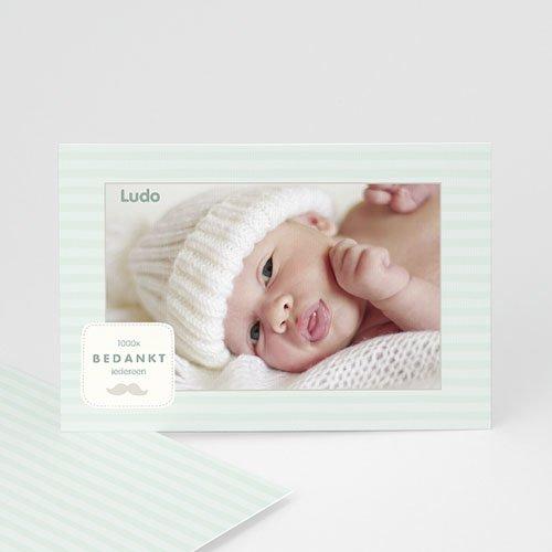 Bedankkaartje geboorte zoon - Rayures garçon 24892 thumb