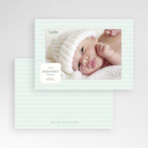 Bedankkaartje geboorte zoon - Rayures garçon 24893 thumb