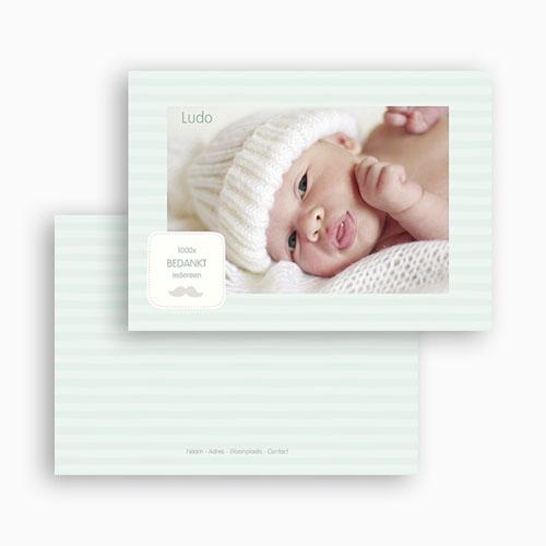 Bedankkaartje geboorte zoon - Rayures garçon 24894 thumb
