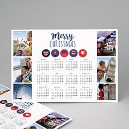 Kalender jaaroverzicht - Calendrier Anglais - 1